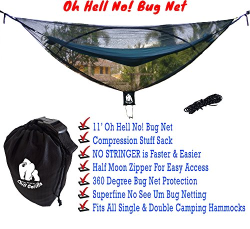 Chill Gorilla 11 Bug Net Stops Mosquitos No See Ums