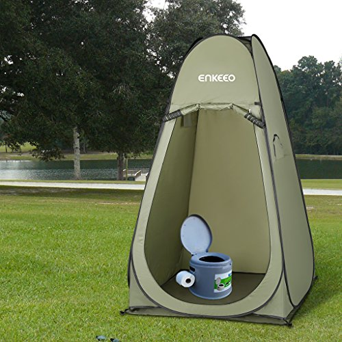 enkeeo portable privacy tent pop up changing tent dressing room with detachable floor and carry. Black Bedroom Furniture Sets. Home Design Ideas