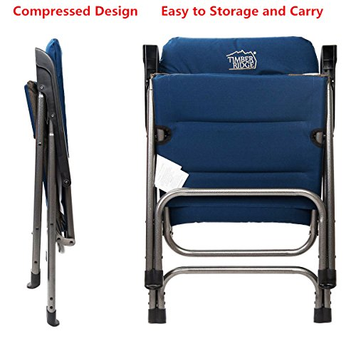 Timber Ridge Folding C&ing Chair ...  sc 1 st  Best C& Kitchen & Timber Ridge Folding Camping Chair Portable with Carry Bag Padded ...