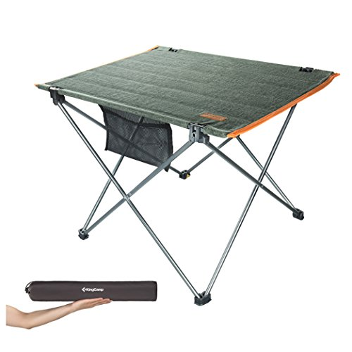 Kingcamp Ultra Lightweight Foldable Camping Tables Portable Compact Roll Up Table Picnic Hiking Backng With Strong Aluminium Frame For Outdoor