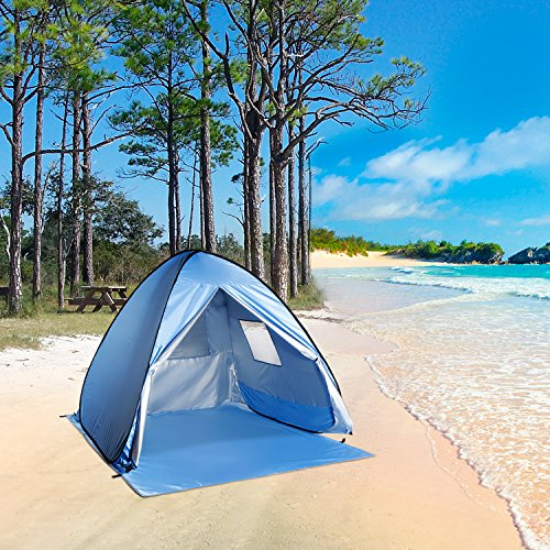 WolfWise UPF 50+ Easy Pop Up Beach Tent Instant Sun Shelter Tent Sunshade Baby Canopy  sc 1 st  Best C& Kitchen & WolfWise UPF 50+ Easy Pop Up Beach Tent Instant Sun Shelter Tent ...