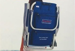 2 Tommy Bahama Backpack Cooler Chair with Storage Pouch and Towel Bar (Blue) u2013 Best C& Kitchen & 2 Tommy Bahama Backpack Cooler Chair with Storage Pouch and Towel ...