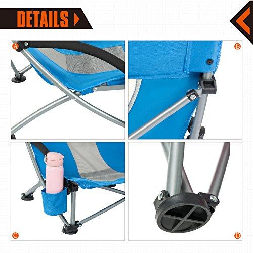 KingCamp Low Sling Beach Camping Folding Chair ...