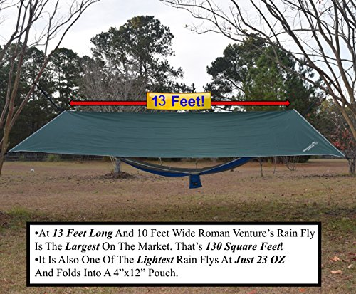Rain ...  sc 1 st  Best C& Kitchen & Rain Fly For Hammock u201313 Feet Long- Lightweight Ripstop Nylon- 2000 ...