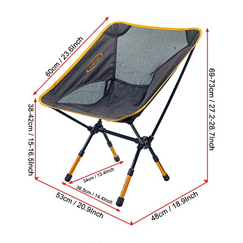 G4Free Lightweight Portable Chair Outdoor Folding Backpacking Camping Chairs  For Sports ...