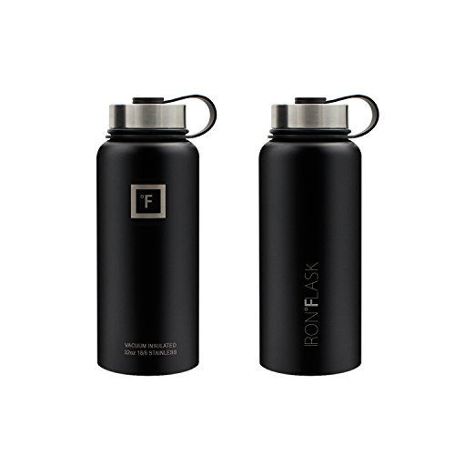 Iron Flask 32 Oz Or 40 Oz 3 Lids Vacuum Insulated