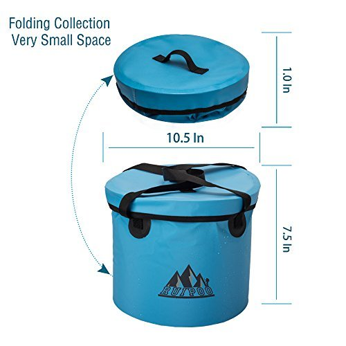 Ruipoo Collapsible Bucket C&ing Water Storage Container ...  sc 1 st  Best C& Kitchen & Ruipoo Collapsible Bucket Camping Water Storage Container with Lid ...