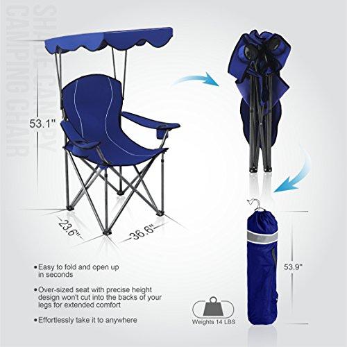 ALPHA CAMP Shade Canopy Chair ...