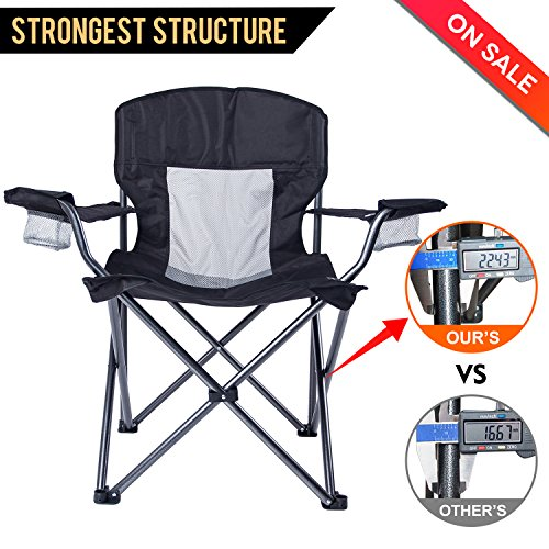 LCH Outdoor Camping Quad Chair Folding Chair High ...