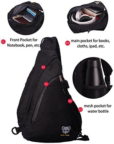 4d79dfdd4f3c Sling Backpack Crossbody Bag for Women   Men Travel Shoulder Chest Bags One  Strap Hiking   Outdoor Pack by Polar Panda