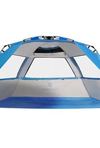 G4free Easy Set Up Beach Tent Pop Up Sun Shelter Large