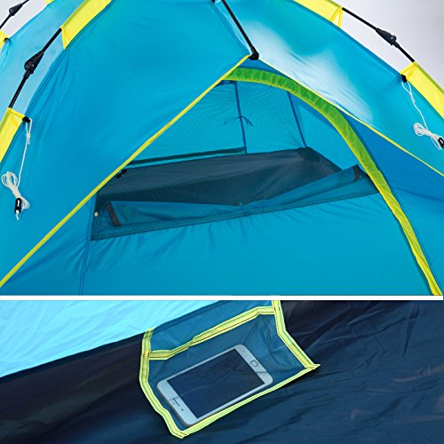 Sowin Automatic Pop Up Family C&ing Tent ... & Sowin Automatic Pop Up Family Camping Tent 3-4 Person Backpacking ...