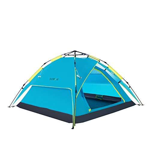 Sowin Automatic Pop Up Family C&ing Tent 3-4 Person Backpacking Lightweight Waterproof Instant Dome Tents for Beach Outdoor Hiking Fishing with Carry Bag  sc 1 st  Best C& Kitchen & Sowin Automatic Pop Up Family Camping Tent 3-4 Person Backpacking ...