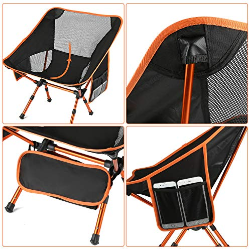 Portable Camping Chairs With Adjustable Height Ultra