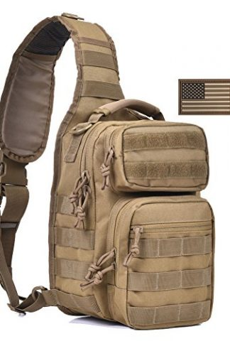 0a2832d13ab You re viewing  Tactical Sling Bag Pack Military Shoulder Sling Backpack  Small Range Bag Day Pack Tan  65.00 (as of February 19, 2019, 5 44 pm)   29.99