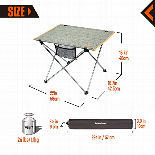 Kingcamp Ultra Lightweight Foldable Camping Tables