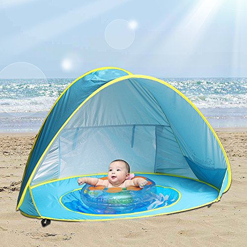 Porch Light Youth Shelter: Baby Beach Tent Beach Umbrella, Sunba Youth Pop Up Tent