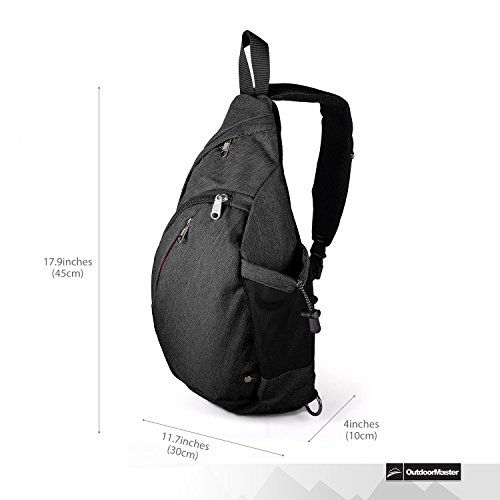 OutdoorMaster Sling Bag – Crossbody Backpack for Women   Men – Best ... 5379373370eb6