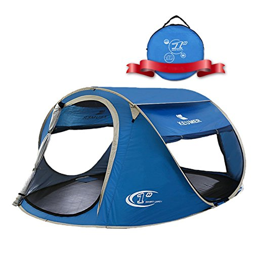 ZOMAKE Pop Up Tent 4 Person Beach Tent Sun ...  sc 1 st  Best C& Kitchen & ZOMAKE Pop Up Tent 4 Person Beach Tent Sun Shelter for Baby with UV ...