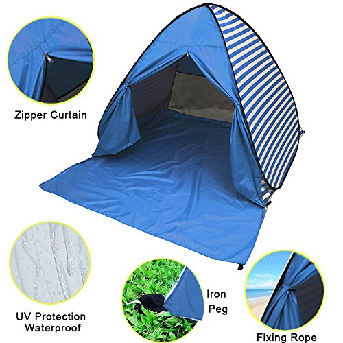FLYTON Pop Up Beach Tent Shade ...  sc 1 st  Best C& Kitchen & FLYTON Pop Up Beach Tent Shade Sun Shelter UV Protection Canopy ...