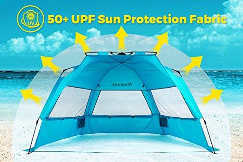 Alvantor Beach Tent ...  sc 1 st  Best C& Kitchen & Alvantor Beach Tent Super Bluecoast Beach Umbrella Outdoor Sun ...