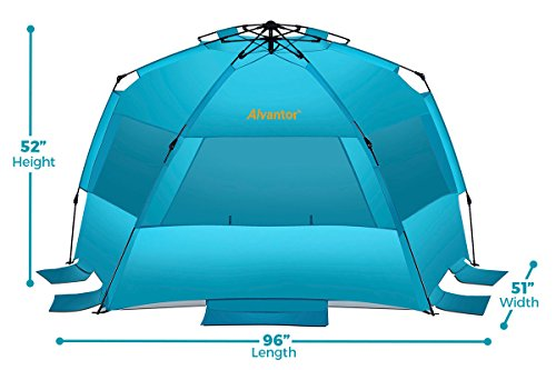 Alvantor Beach Tent Super Bluecoast Beach Umbrella Outdoor Sun