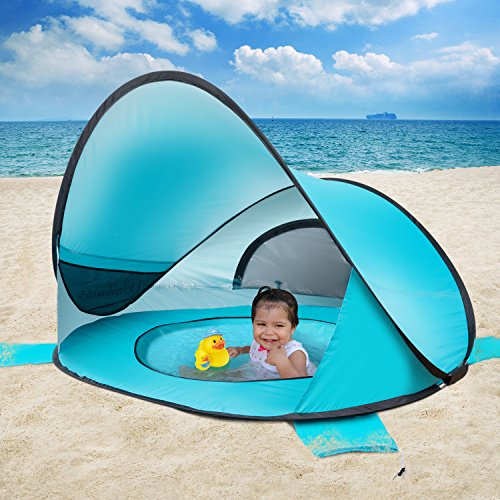 Wolfwise Upf 50 Easy Pop Up Beach Tent
