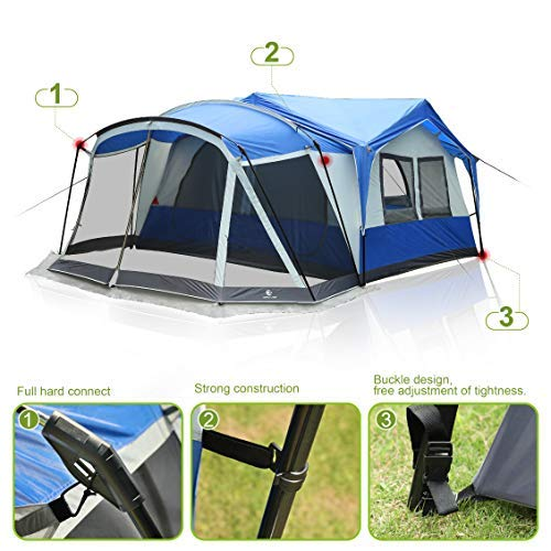 Alpha Camp 10 12 Person Tent With Screen Room Cabin Tent Design 19