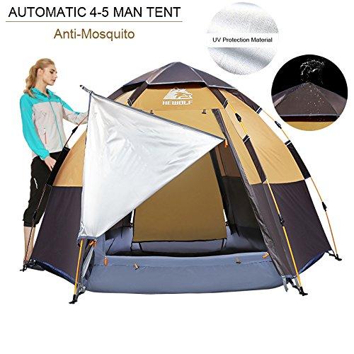 Hewolf C&ing Tents ...  sc 1 st  Best C& Kitchen & Hewolf Camping Tents 2-4 Person [Instant Tent] Waterproof [Double ...