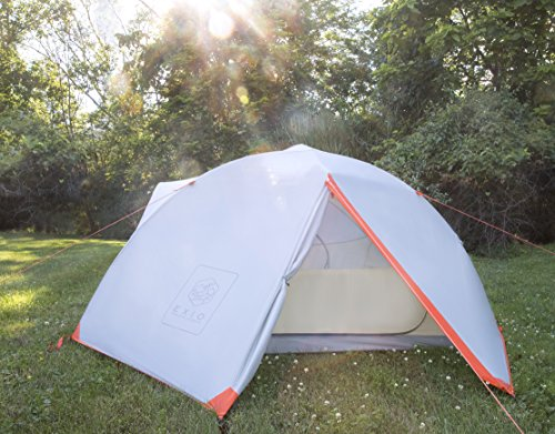 EXIO 4 Person Backpacking Tent ... & EXIO 4 Person Backpacking Tent: Extended 3+ Season Freestanding Family Tents with Full Rainfly Footprint Aluminum Poles u0026 Stakes - 20D Waterproof ...