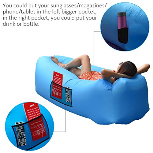 Anglink Outdoor Inflatable Lounger Couch Thick Durable Comfortable