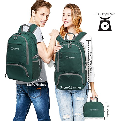 2a8fd195a59c ZOMAKE 30L Lightweight Packable Backpack Water Resistant Hiking ...