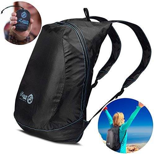 72b9f88e339e Rayan Deluxe Ultra Lightweight Packable Backpack (2.6 oz)- Foldable Hiking,  Camping, Travel, Cruise Day Pack - Small, Ultralight & Compact Water ...